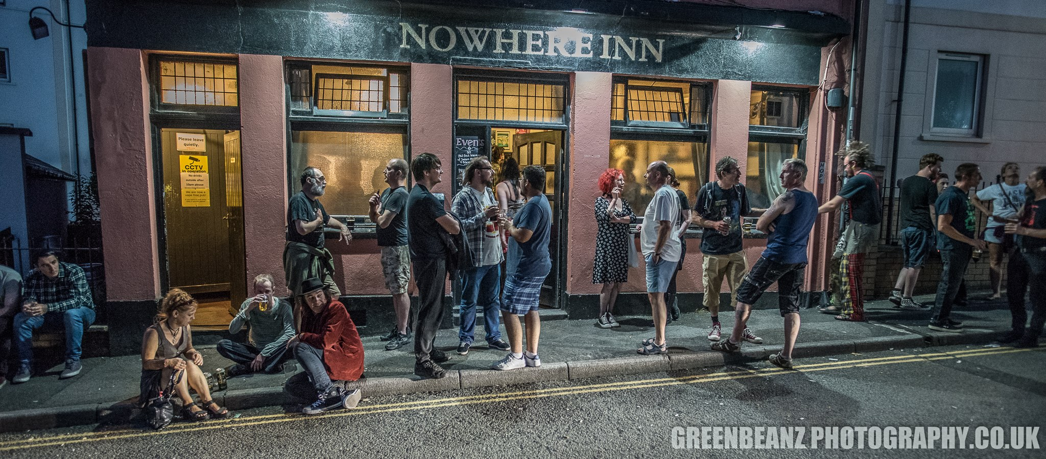 Outside The Nowhere Inn at night Phil Fest 2019