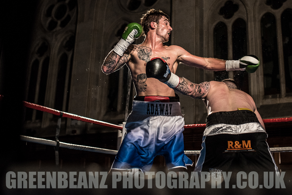 UK Boxing Chris Adaway at Plymouth Guildhall