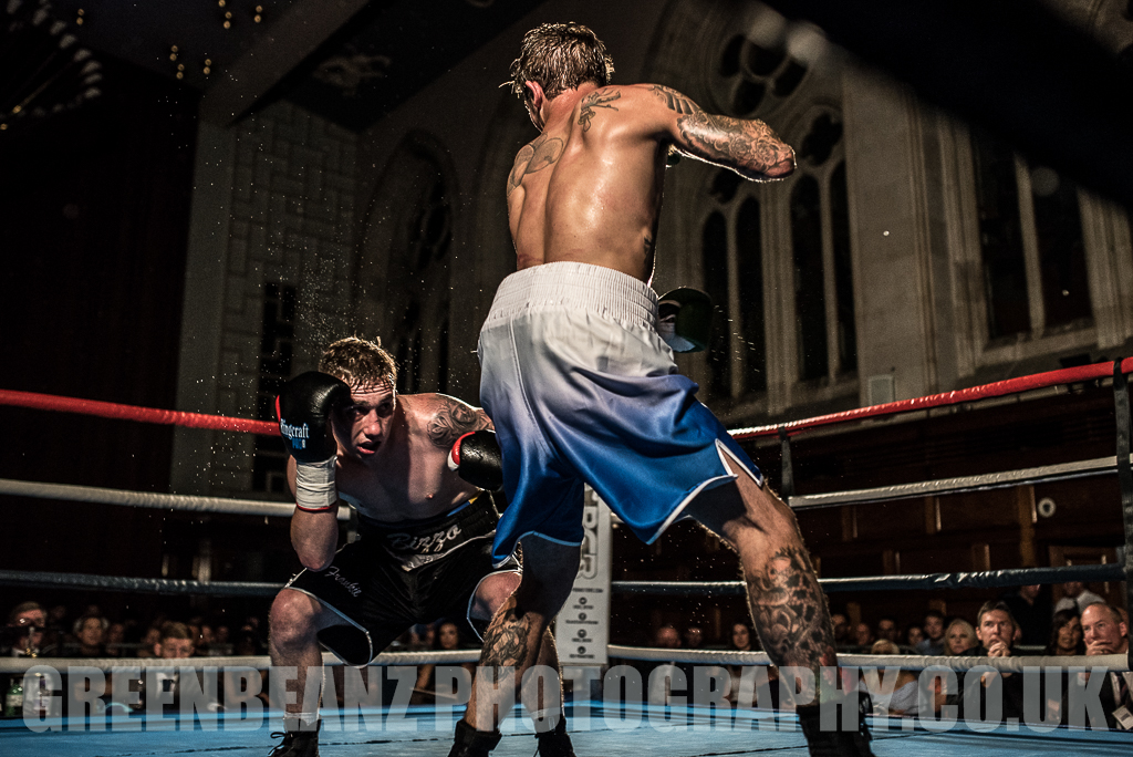UK Boxer Des Newton at Plymouth Guildhall