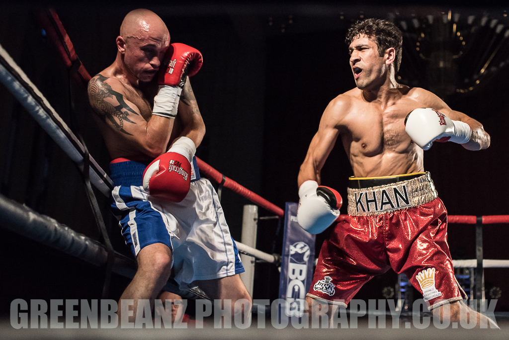 UK Boxing Exeter's Faheem Khan fighting Dylan Draper in Plymouth