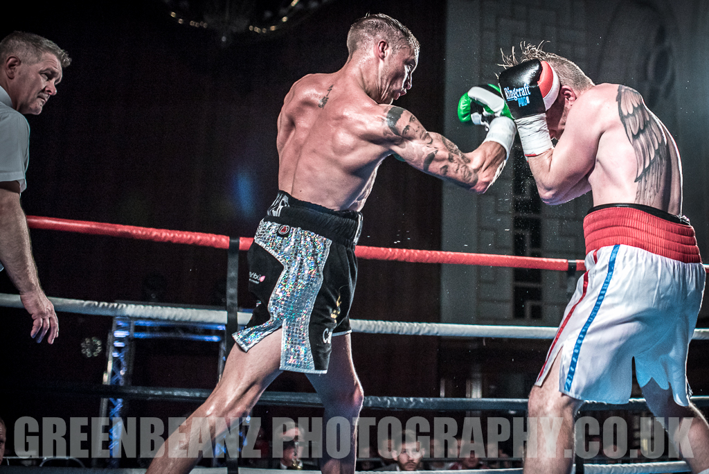 UK Boxing Uppercut form Des Newton at Plymouth Guildhall