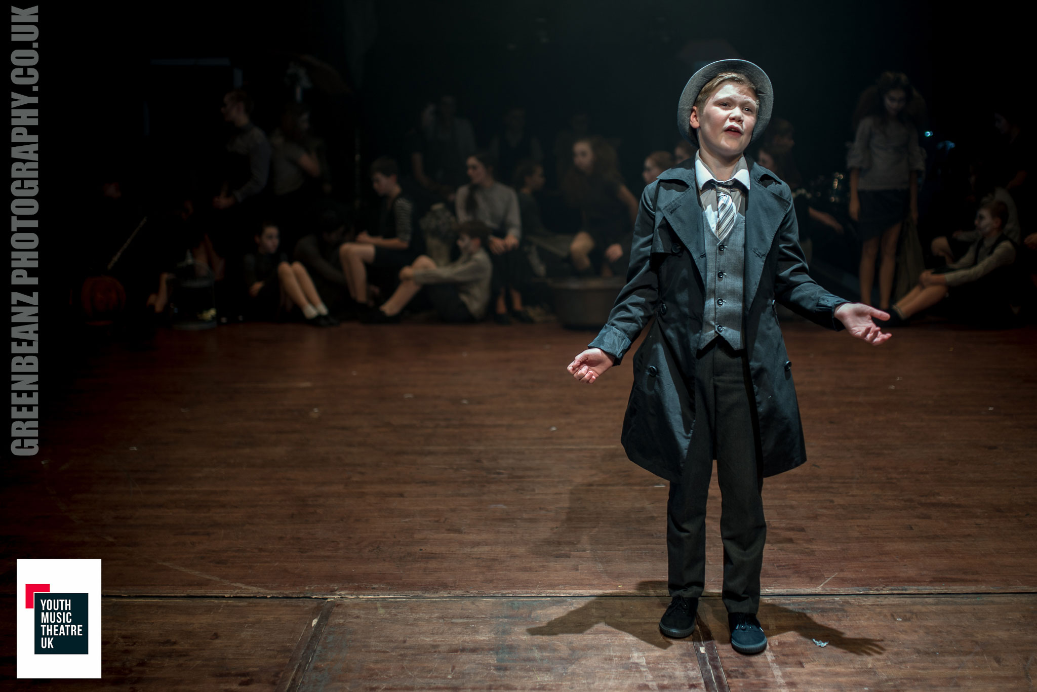 The young narrator of YMTUK's Cautionary Tales at Plymouth's Barbican Theatre