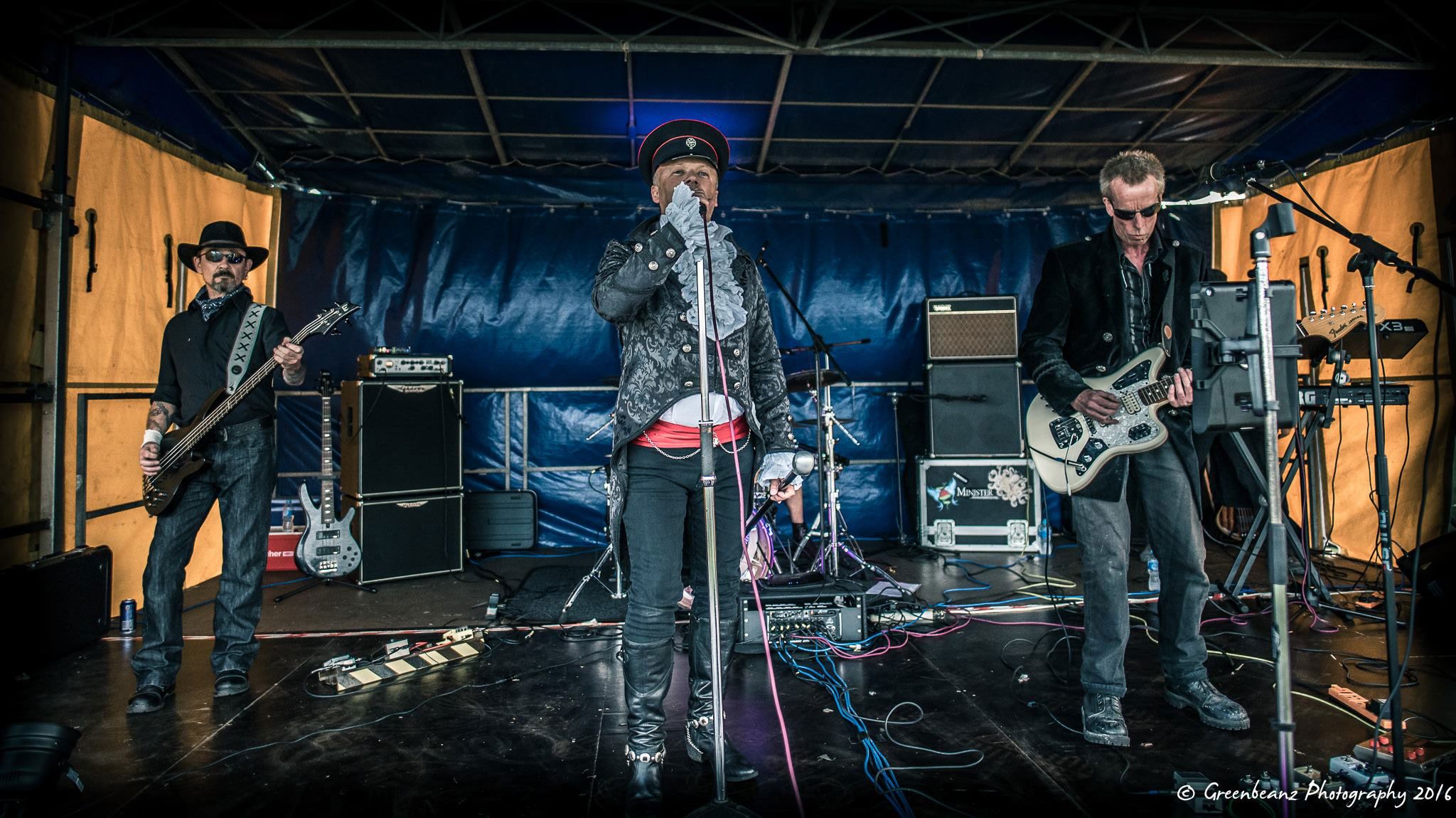 Plymouth Music Photographers Image of Souls of Misfortune the Gothic Rock band at Plymouth Bike Night