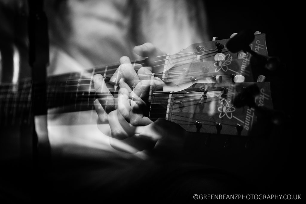 Monochrome Music Photograph Thomas Ford Blues Guitar The Junction Plymouth Music Venue