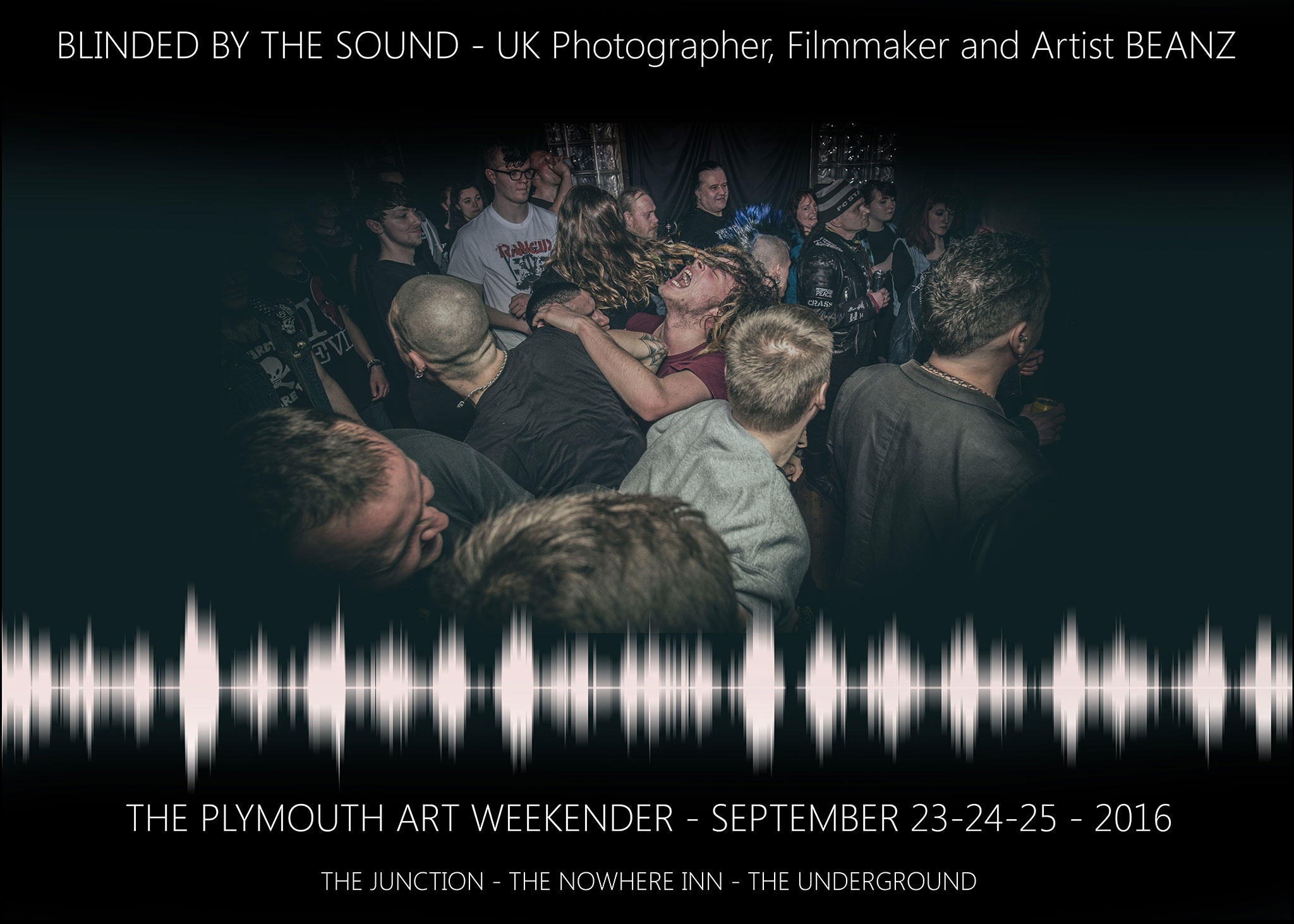 Action Photograph of Passionate Music fans in Plymouth at Underground Venue during a gig
