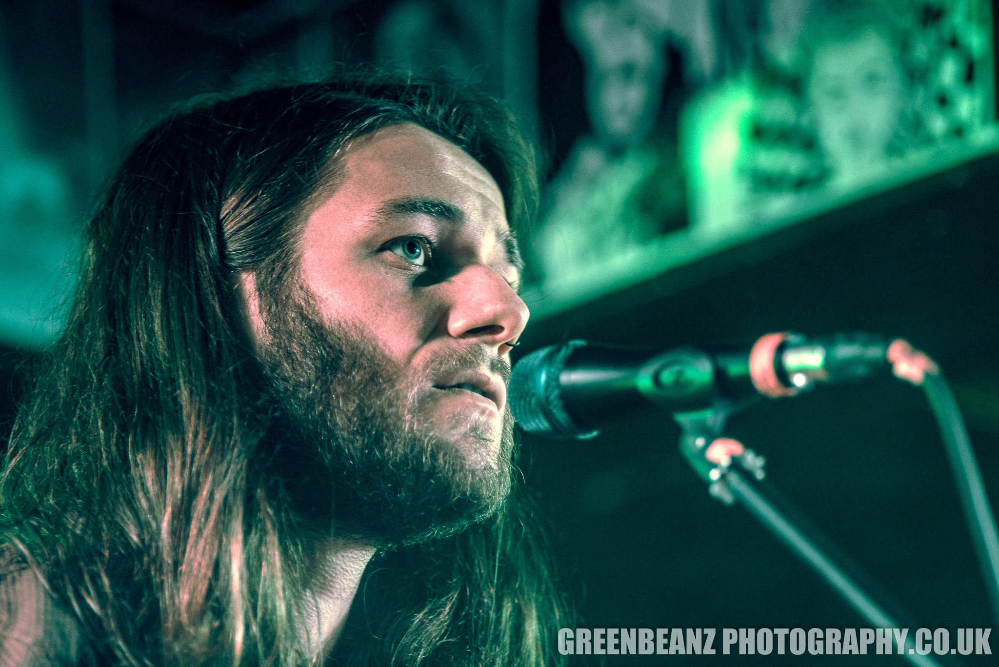 Folk and Roots Singer Songwriter Jack Cookson at the launch of 'Chamfer ' Underground Plymouth 5th April 2018