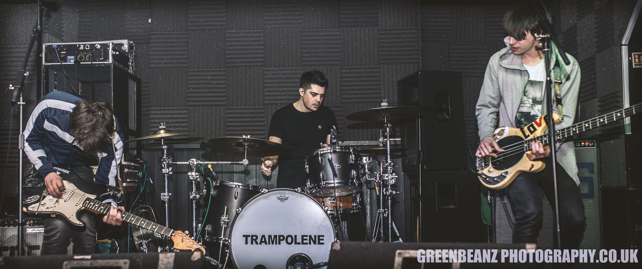 Trampolene grace the Junction in Plymouth.